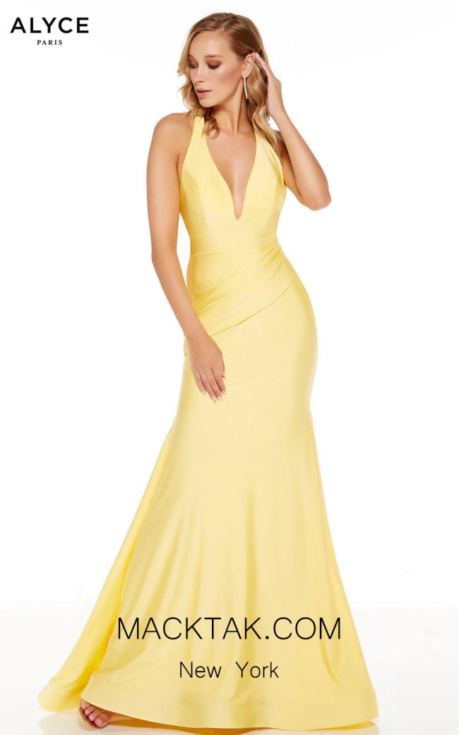Alyce Paris 60766 Yellow Front Dress