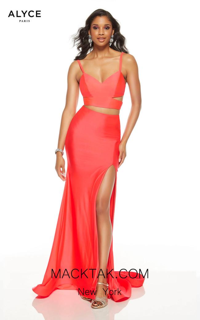 Alyce Paris 60774 Watermelon Front Dress