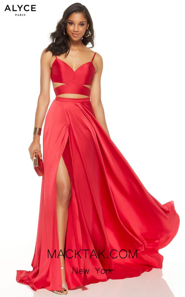 Alyce Paris 60776 Cerise Front Dress