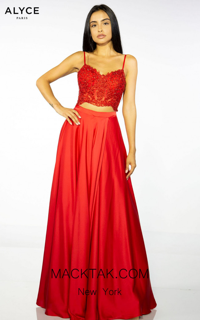 Alyce Paris 60777 Red Front Dress