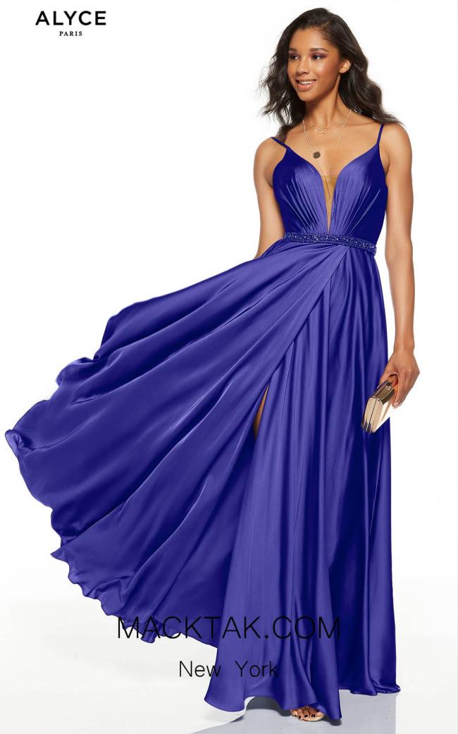 Alyce Paris 60781 Cobalt Front Dress