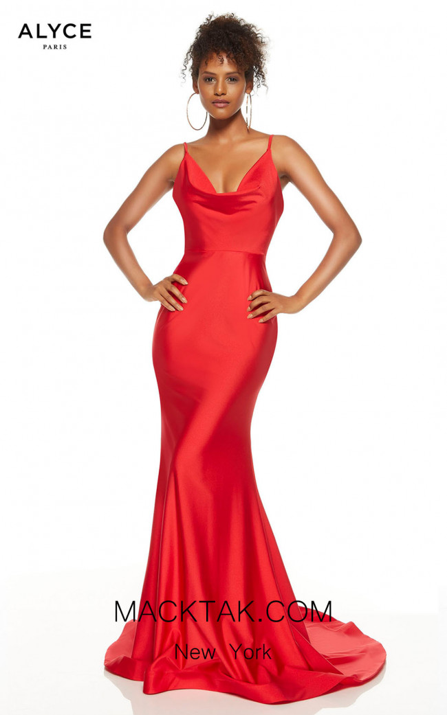 Alyce Paris 60787 Red Front Dress