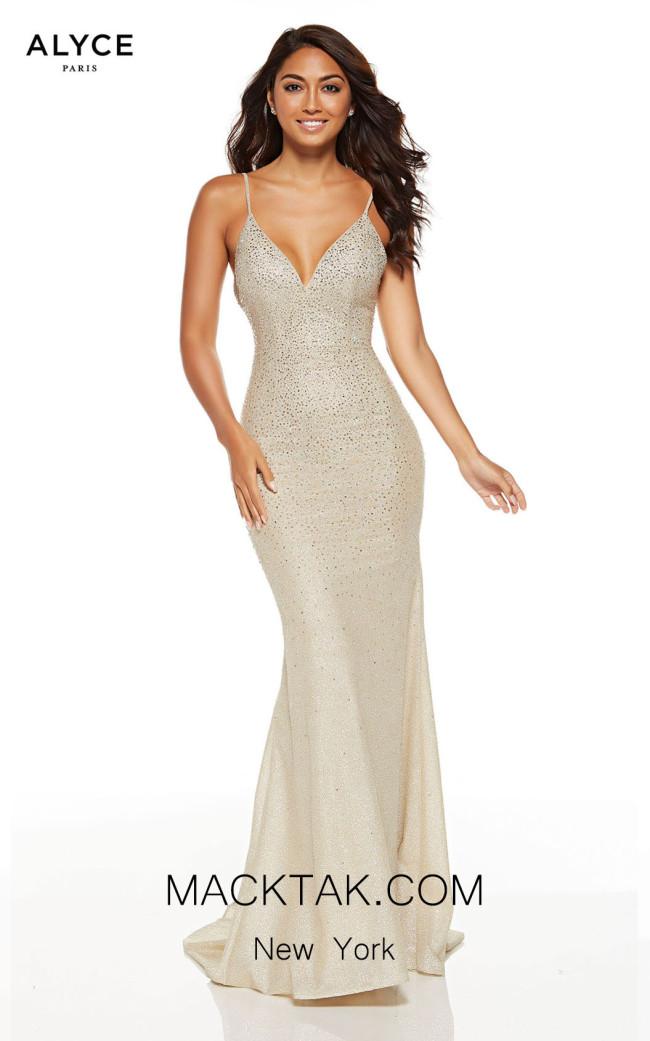 Alyce Paris 60804 Light Gold Front Dress