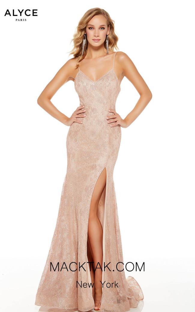 Alyce Paris 60817 Rose Gold Front Dress