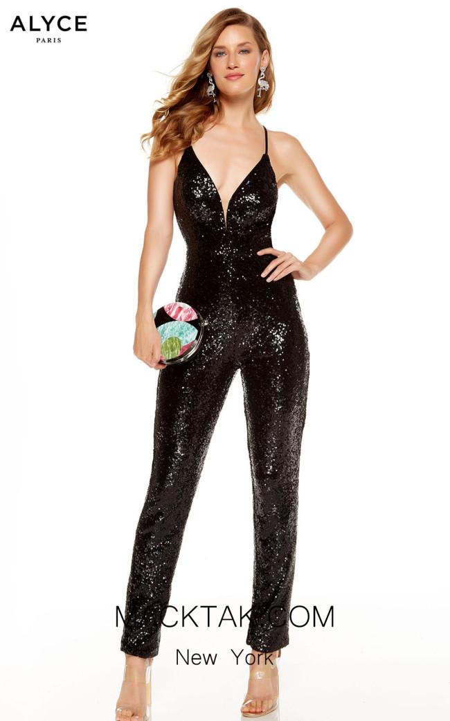Alyce Paris 60821 Black Front Dress