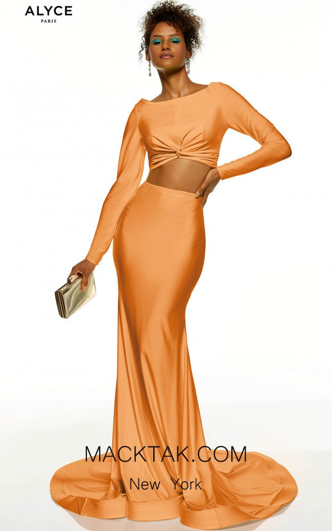 Alyce Paris 60827 Tangerine Front Dress