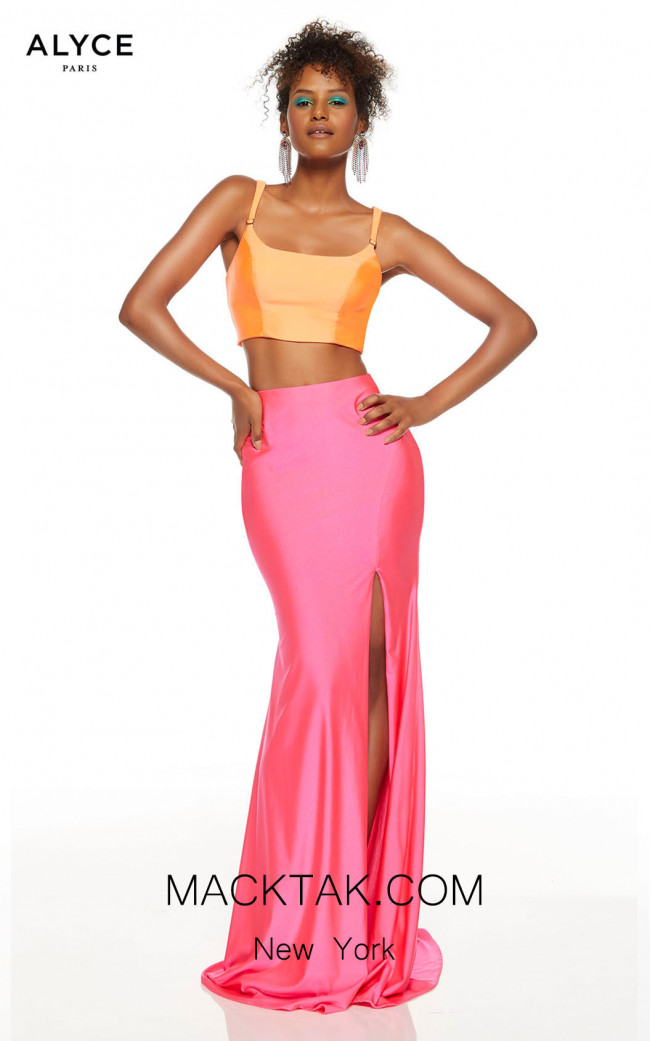 Alyce Paris 60829 Tangerine Barbie Pink Front Dress