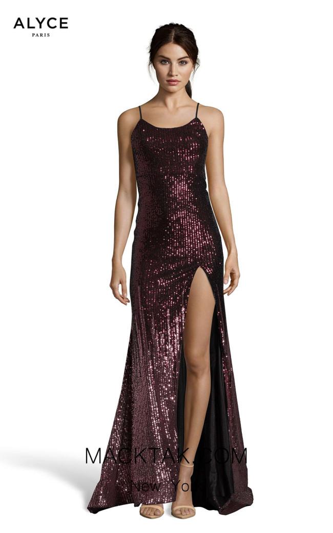 Alyce Paris 60836 Purple Mauve Front Dress