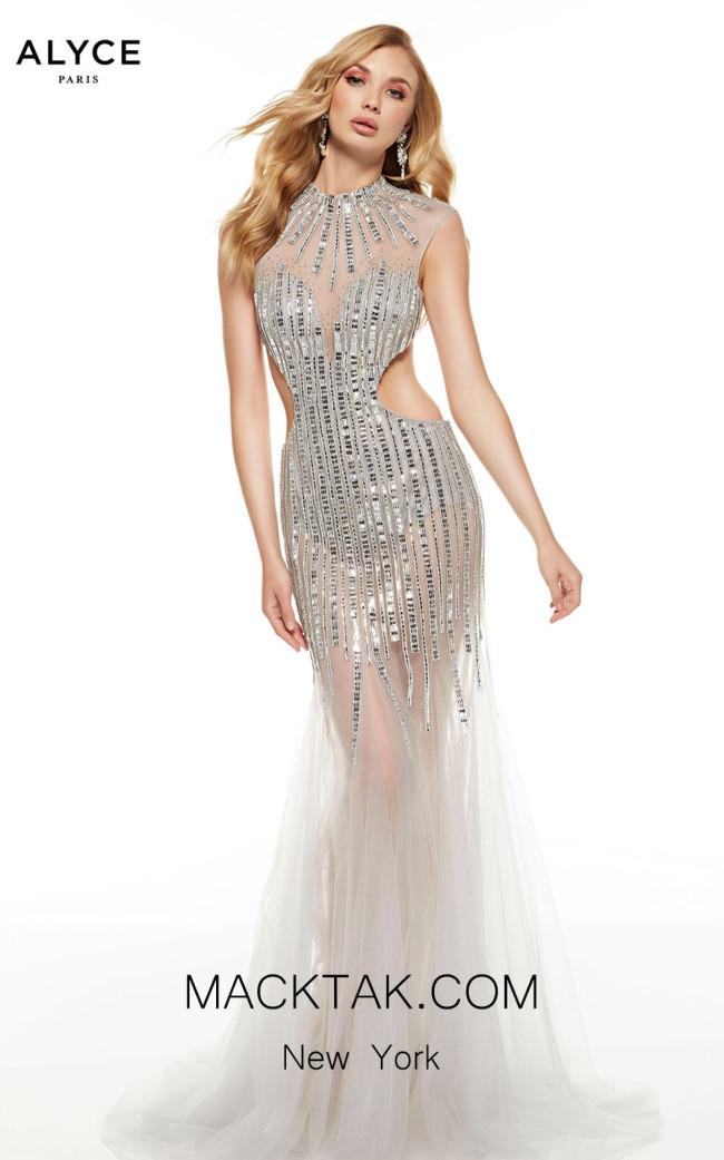 Alyce Paris 60839 Silver Front Dress