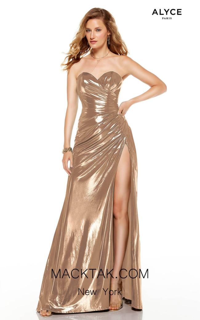 Alyce Paris 60851 Rose Gold Front Dress
