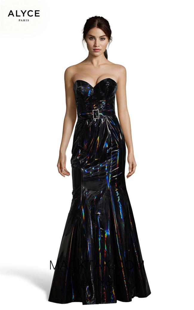 Alyce Paris 60855 Black Lacquer Front Dress