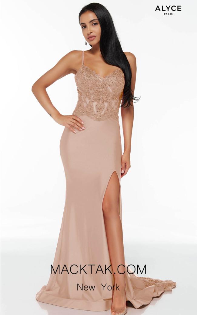 Alyce Paris 60862 Cashmere Rose Front Dress