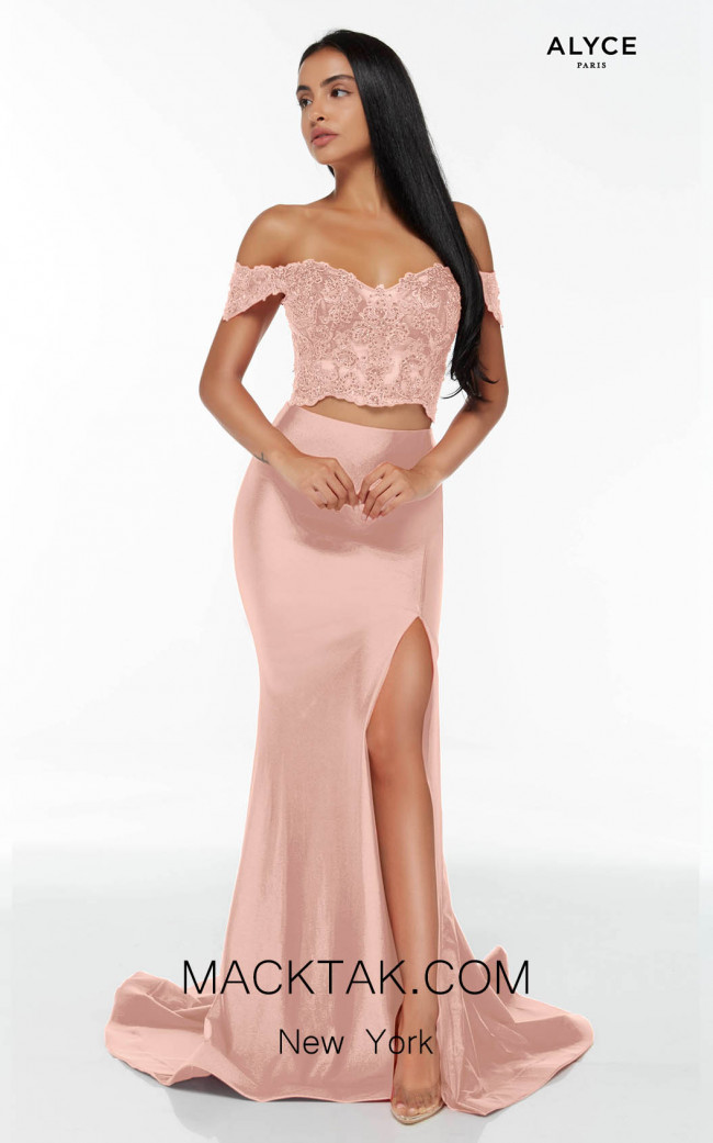 Alyce Paris 60863 Cameo Pink Front Dress