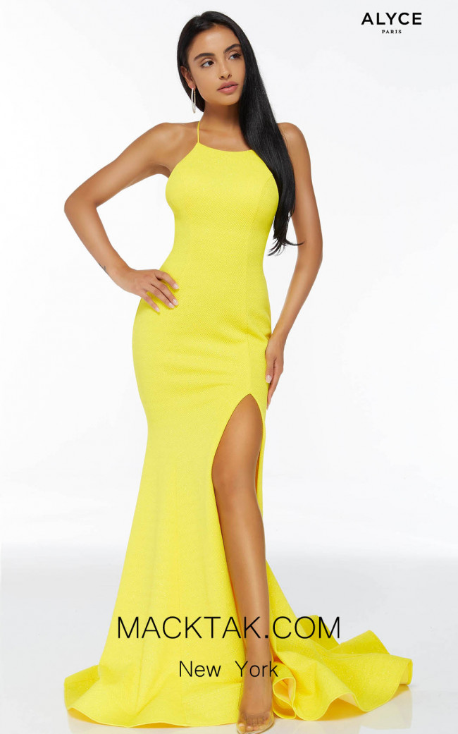 Alyce Paris 60864 Bright Yellow Front Dress
