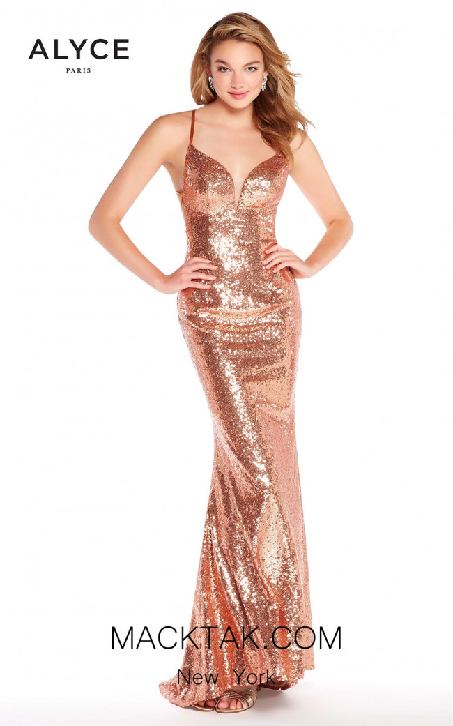 Alyce 60032 RoseGold Front