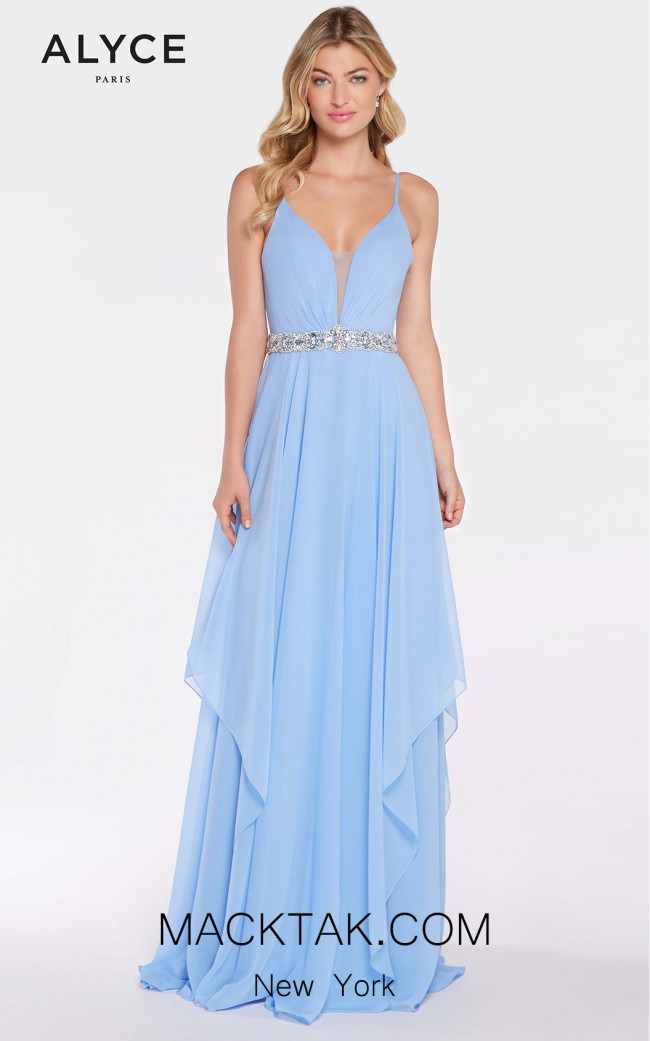 Plunging Neckline Long Dress by Alyce 60092