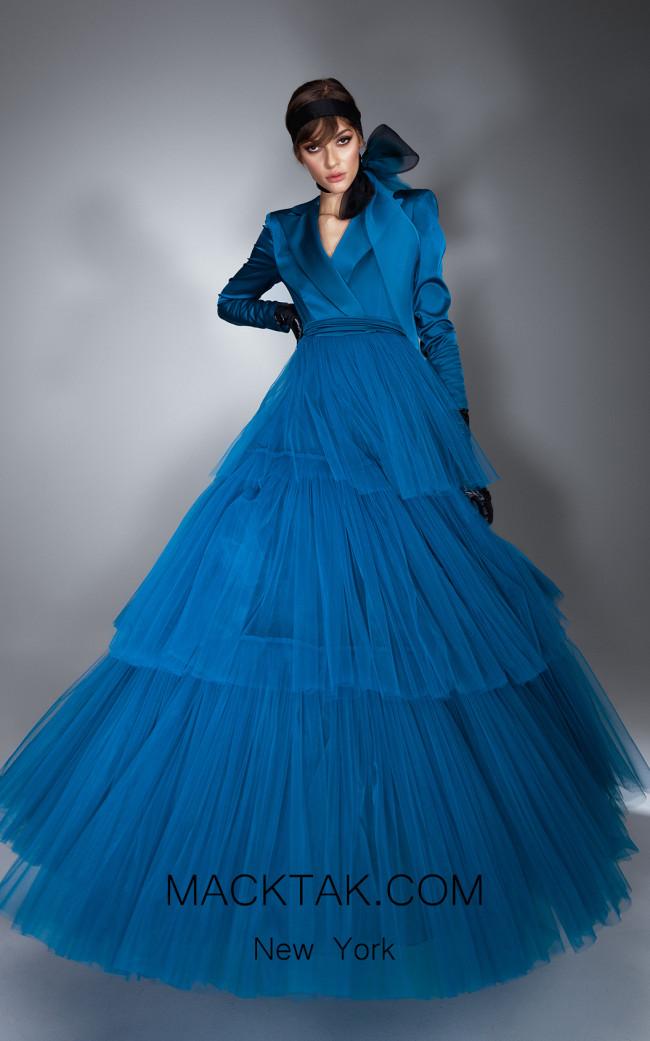 Ana Radu AR025 Blue Front Dress