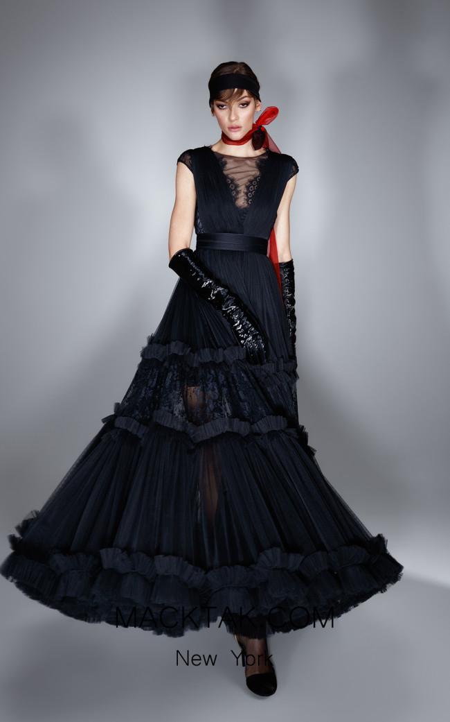 Ana Radu AR002 Black Front Dress
