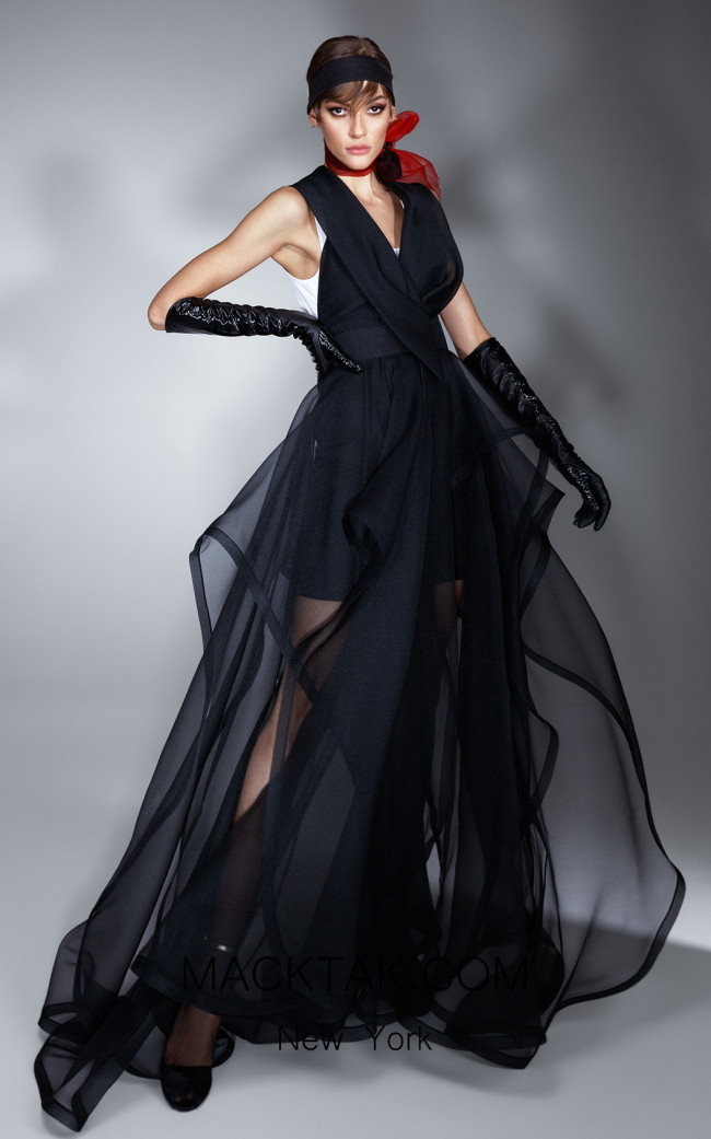 Ana Radu AR005 Black Front Dress