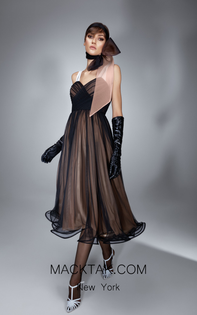 Ana Radu AR006 Black Brown Front Dress