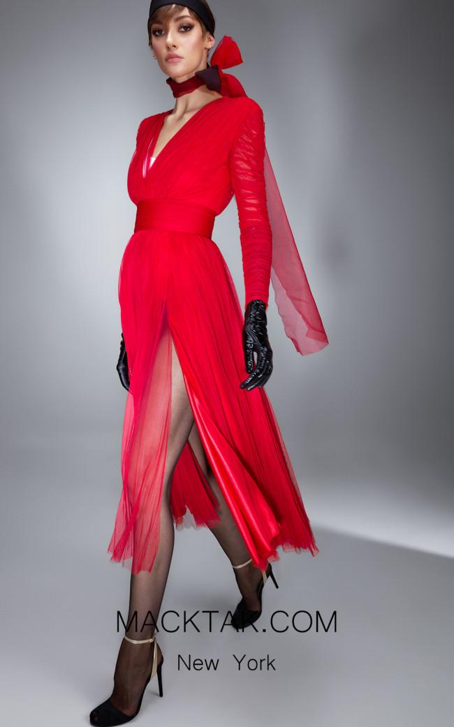 Ana Radu AR008 Red Front Dress