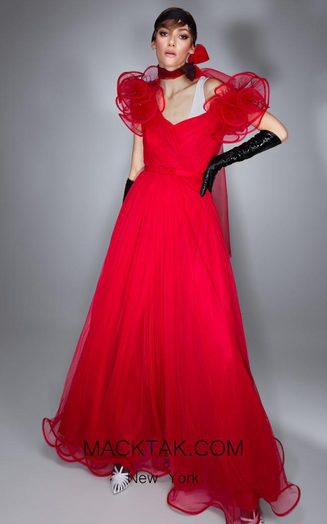 Ana Radu AR011 Red Front Dress