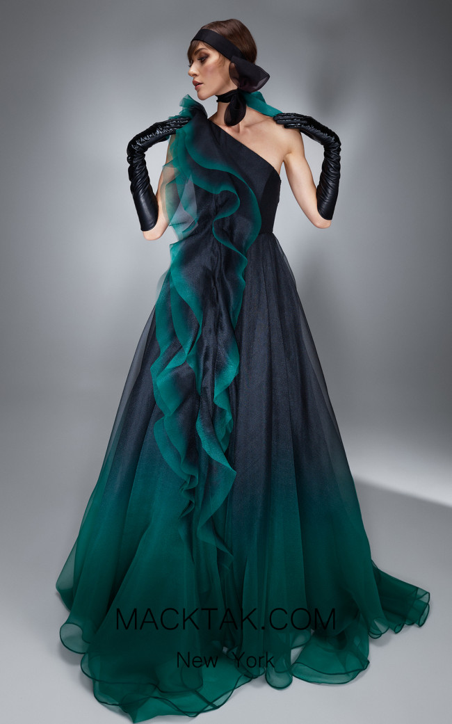 Ana Radu AR027 Green Front Dress