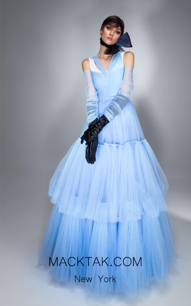 Ana Radu AR028 Aqua Front Dress