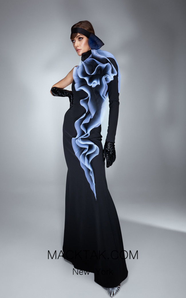 Ana Radu AR032 Navy Blue Front Dress