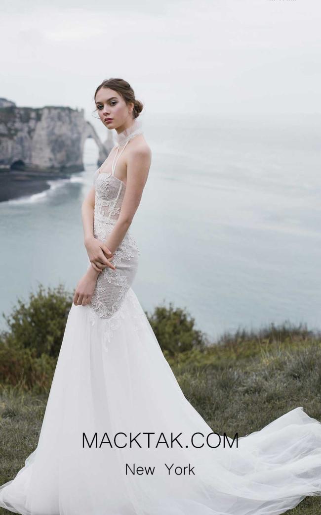 Ange Etoiles Bett Ivory Front Bridal Dress