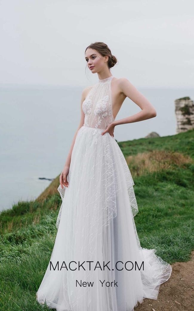 Ange Etoiles Seage Ivory Front Bridal Dress