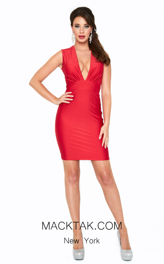 Atria 6568S Red Front Dress