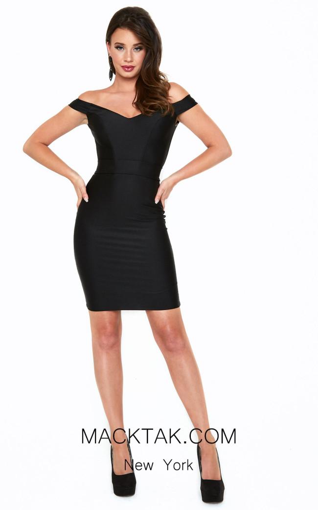 Atria 6016S Black Front Dress