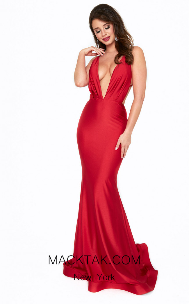 Atria 6534H Red Front Dress