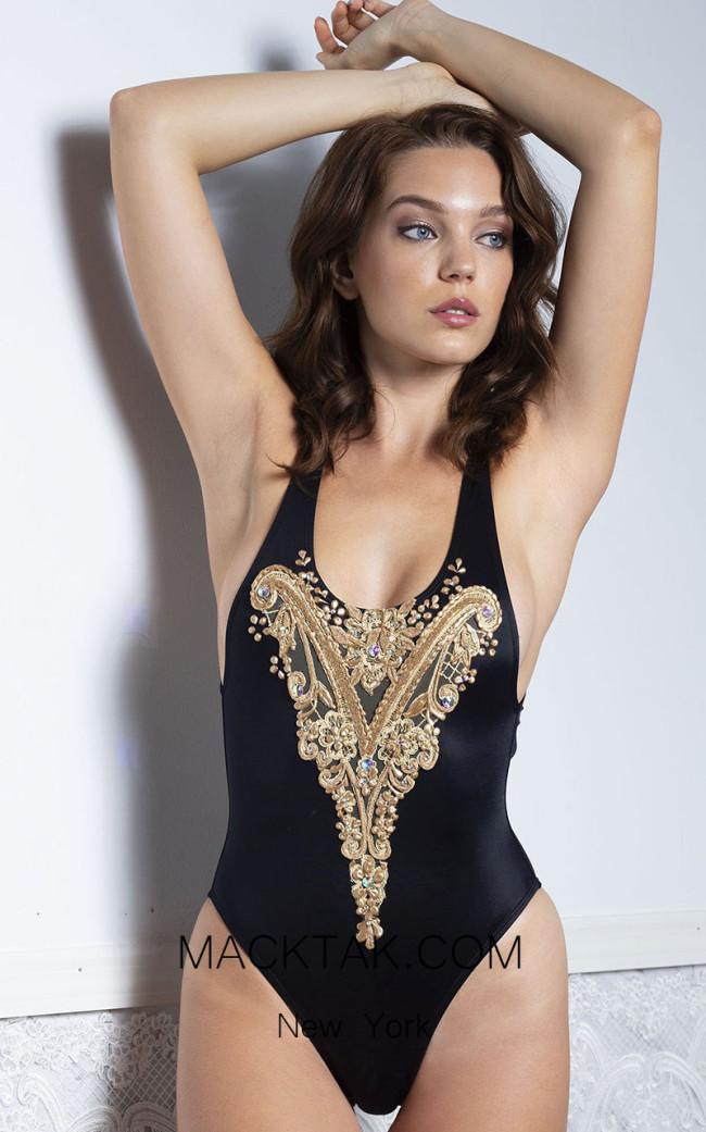 Baccio Alina Black Front Swimsuit