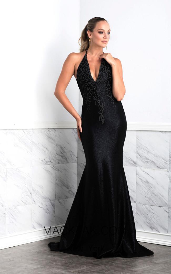 Baccio Luz Black Front Dress