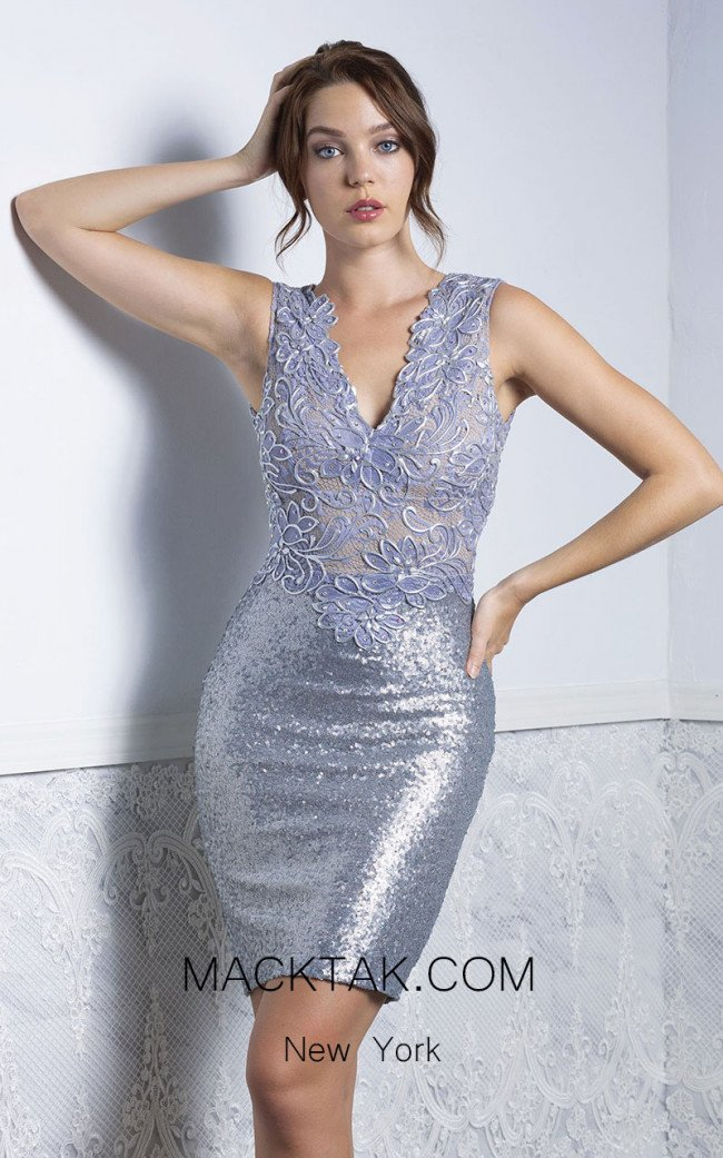 Baccio Priscilla Platinum Front Dress