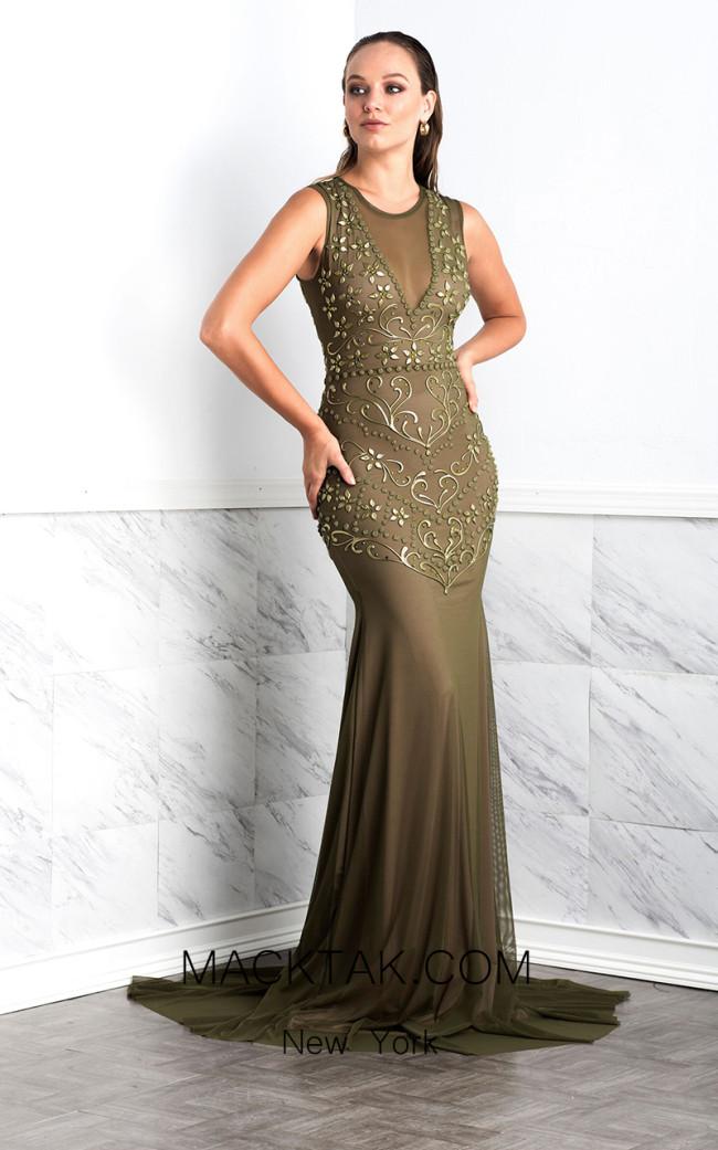 Baccio Zair Green Front Dress