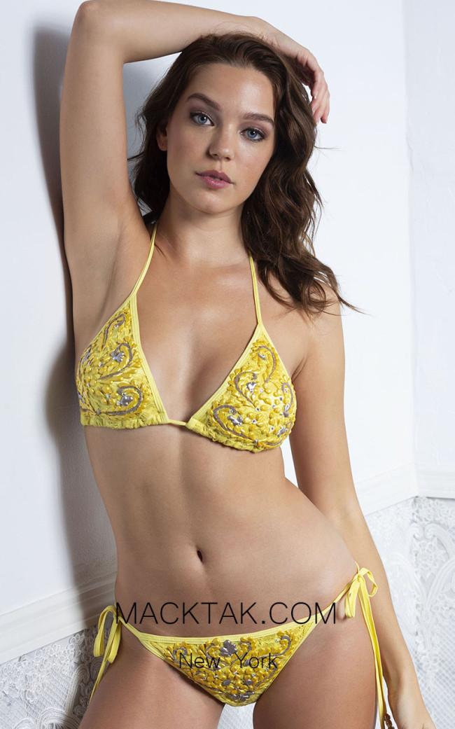 Baccio Briani Yellow Front Bikini