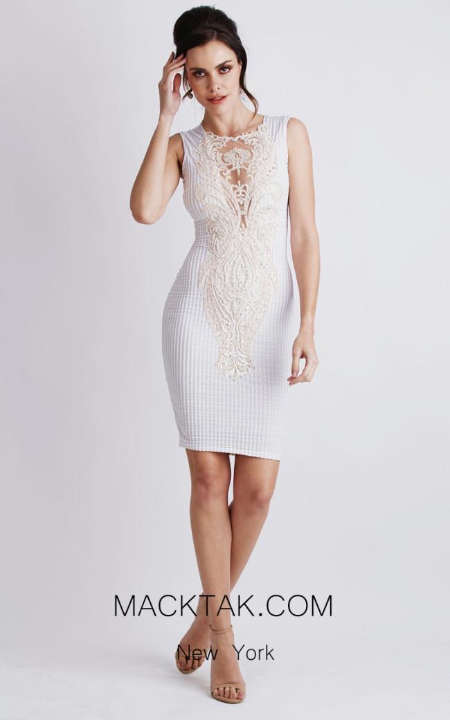 Baccio Elena White Front Dress