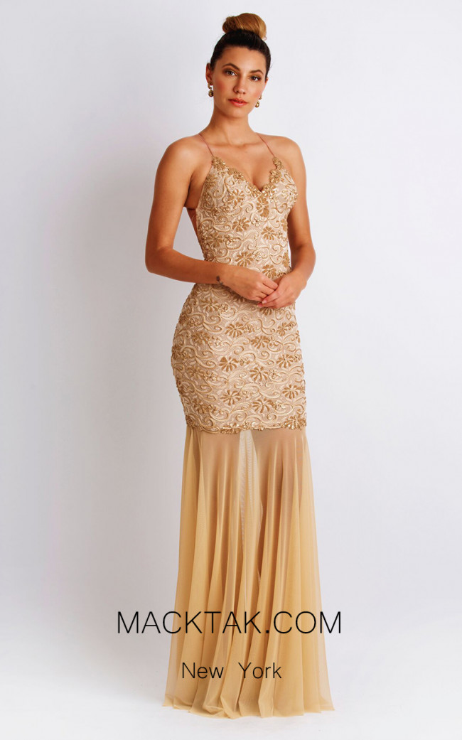 Baccio Emily Painted Champagne Front Dress