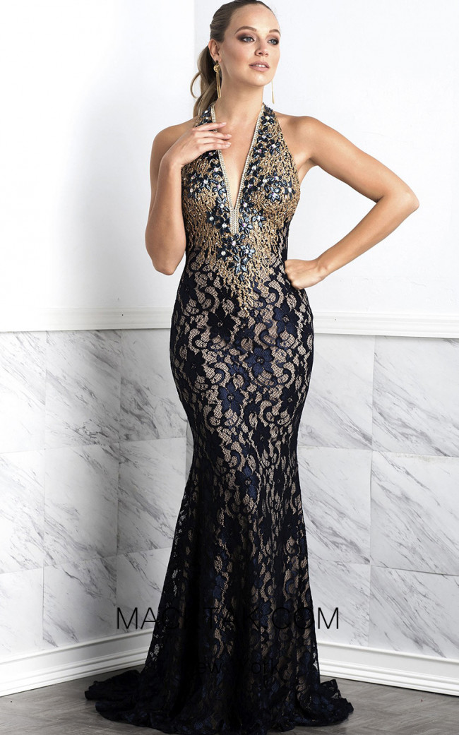 Baccio Julia Painted Black Front Dress