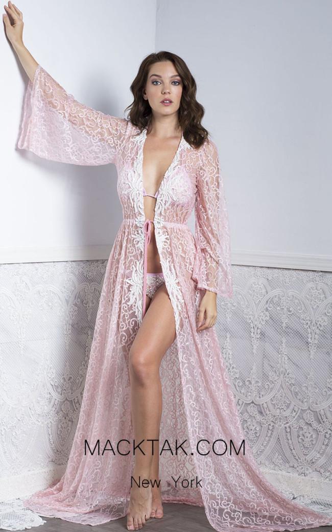 Baccio Kika Long Cover Up Pink Front