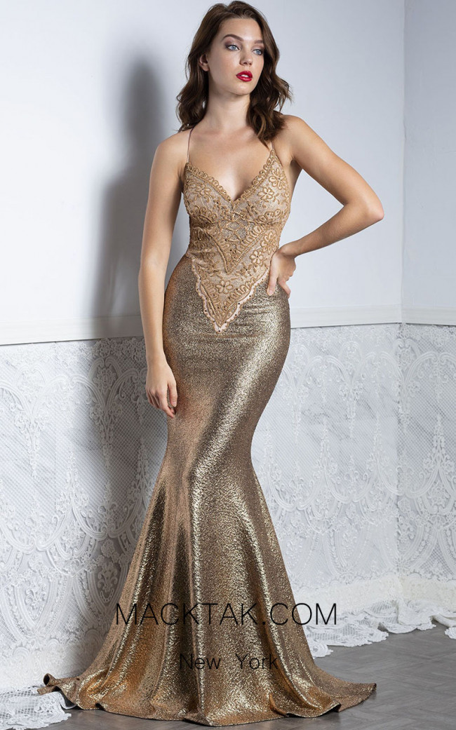Baccio Liz Gold Front Dress