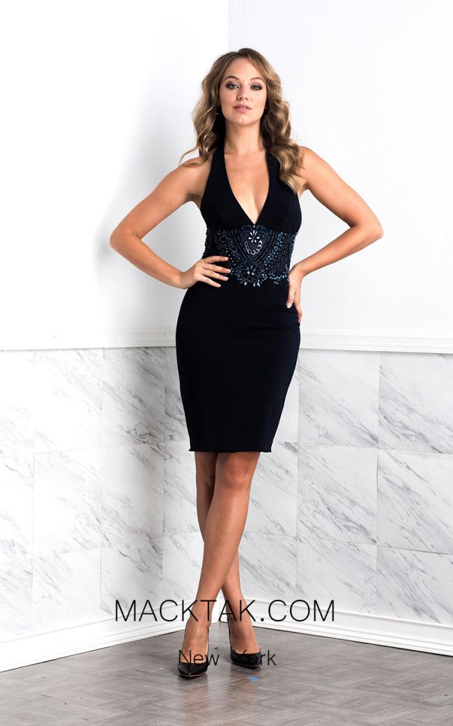 Baccio Lola Black Front Dress