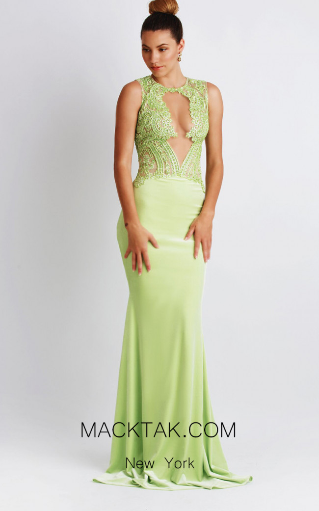 Baccio Luz Jersey Light Green Front Dress