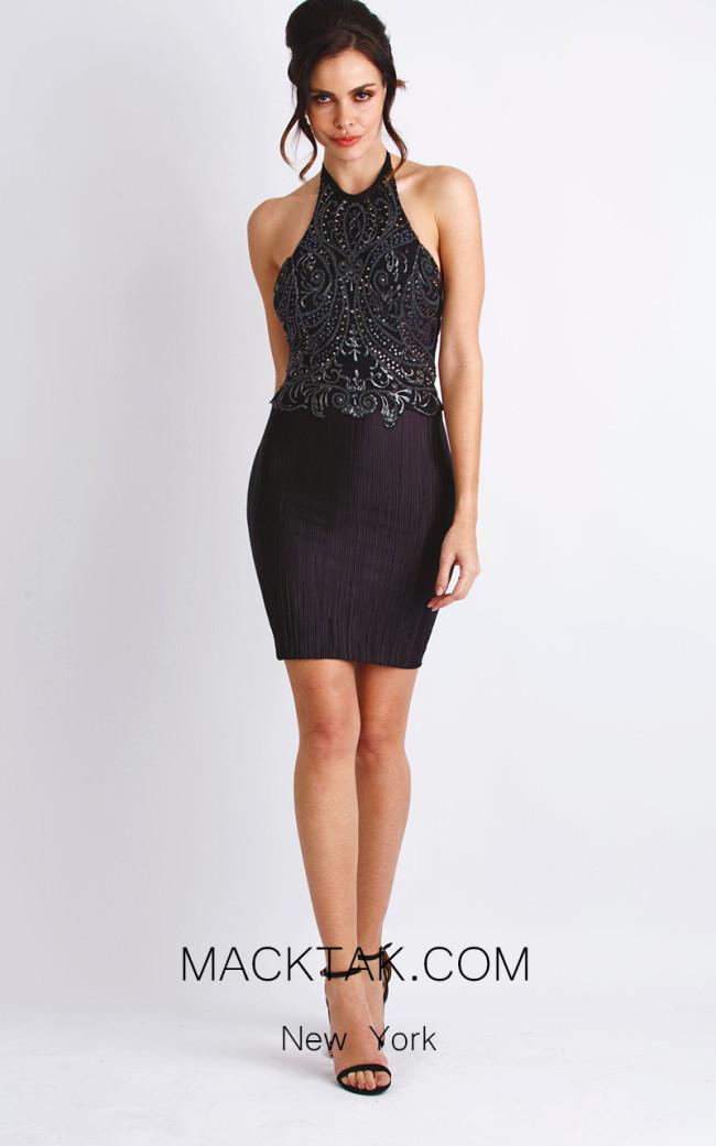 Baccio Marcella Black Front Dress