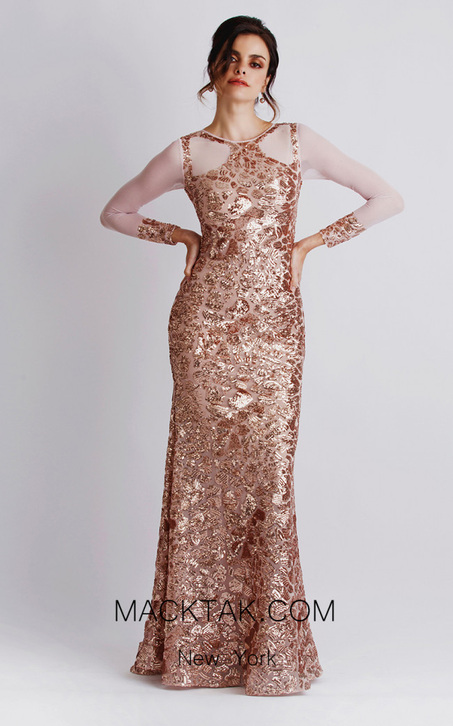 Baccio Soila Sequin Gold Front Dress