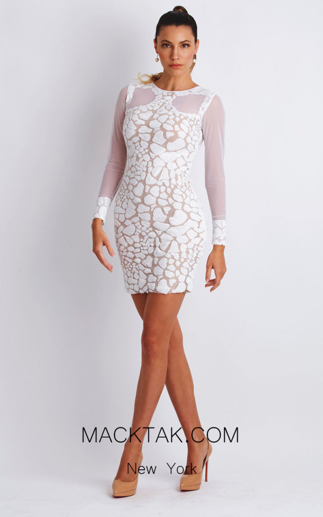 Baccio Soila White Front Dress