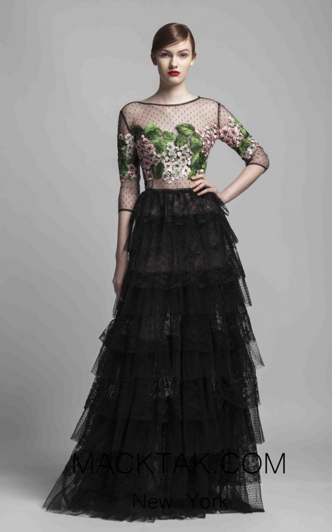 Beside Couture 1364 Black Front Dress
